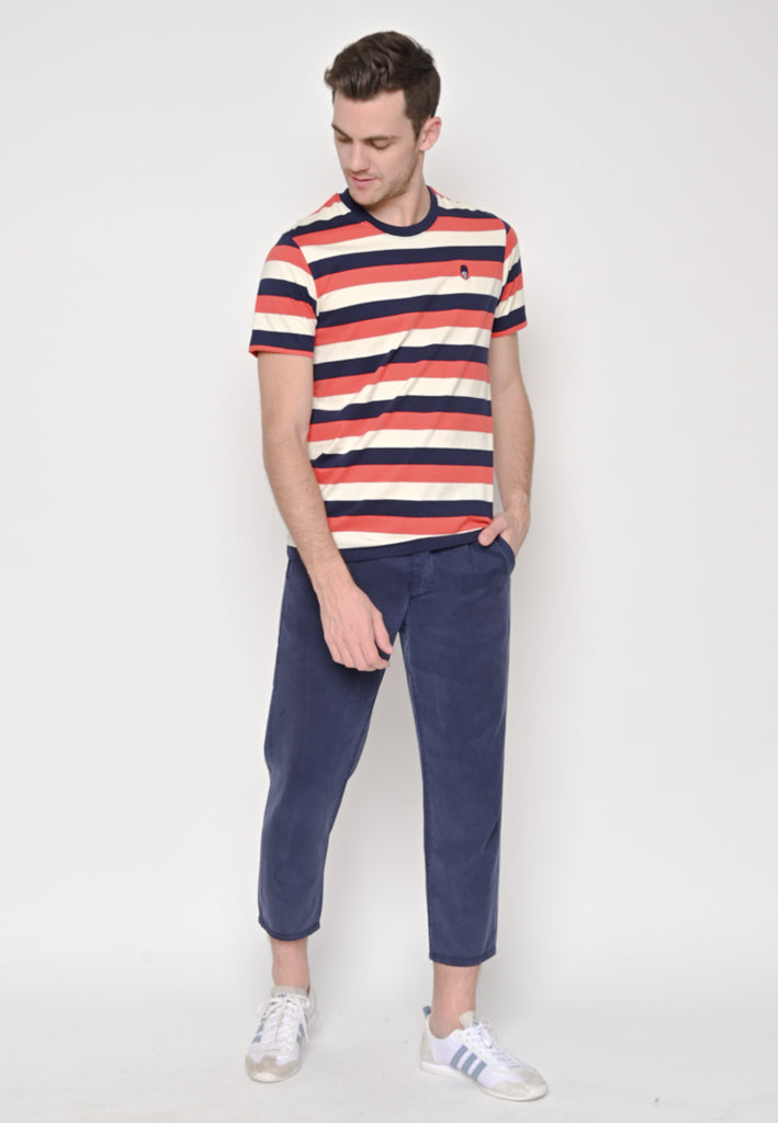 TM Stripe Holiday Tee Navy