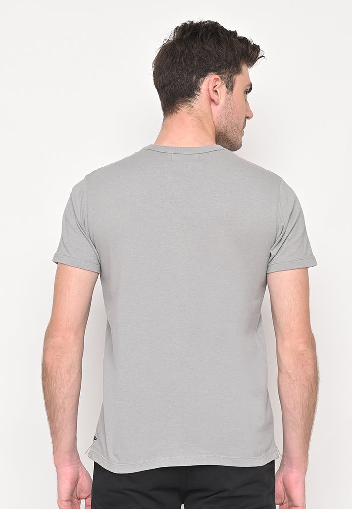 Uniform Crew Neck Pocket T-Shirt Flyers In Grey