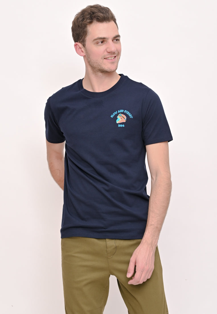 Slow And Steady T-Shirt Navy