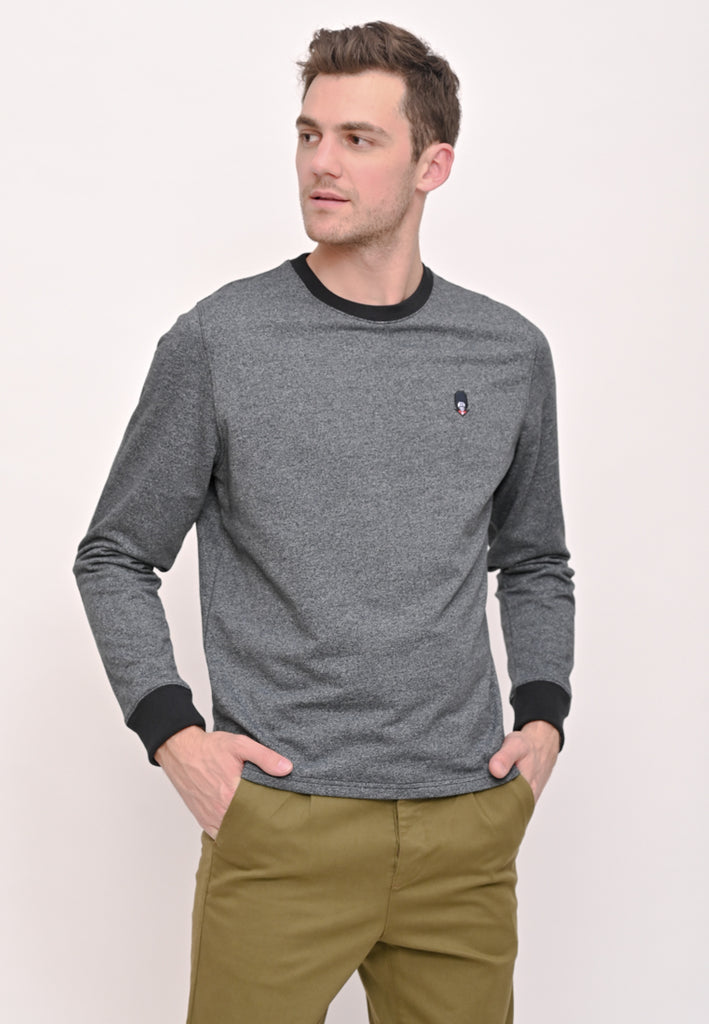 Guardian Relaxed Fit Siro Yarn Pullover Black