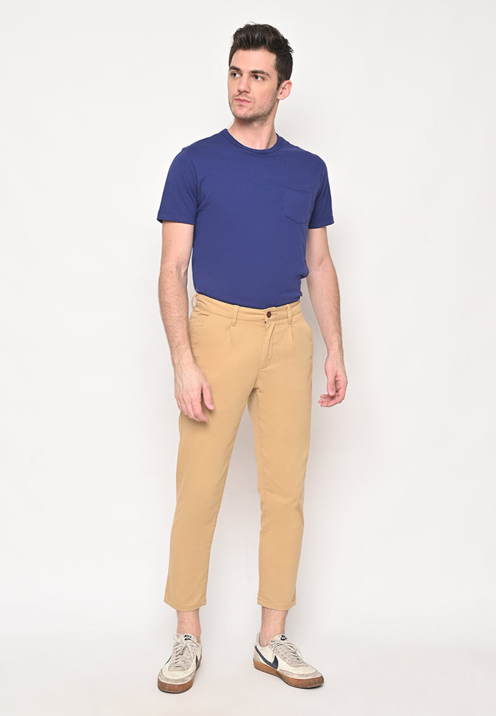Bill Tapered Crop Pants In Beige