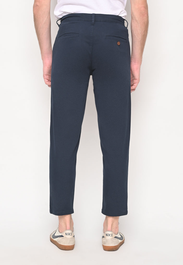 Bill Tapered Crop Pants in Navy
