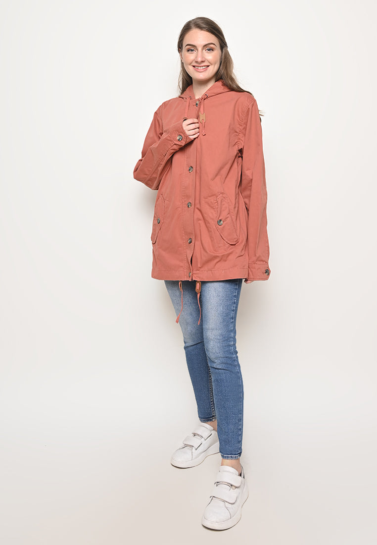 Rainly Parka In Brick Special Ladies