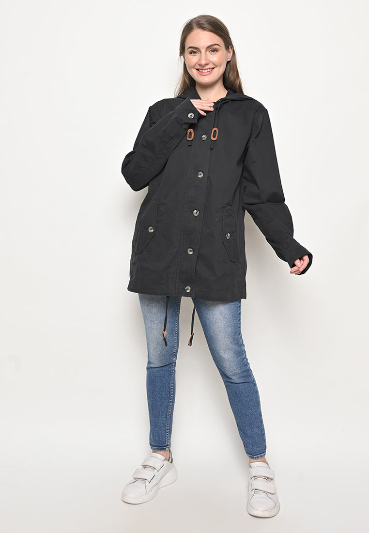 Rainly Parka In Black Special Ladies