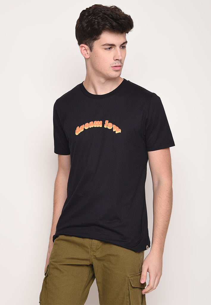 Dream Low in Black Graphic T-Shirt