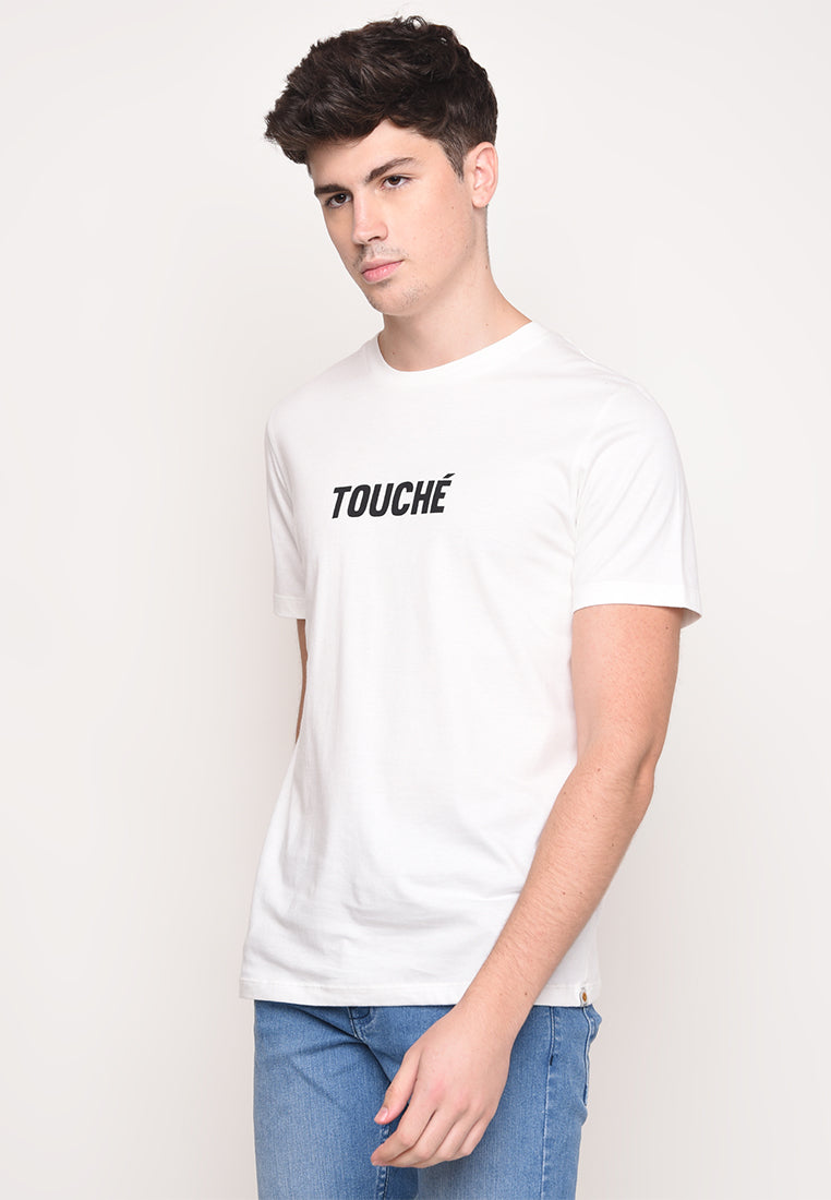 Touche Tee Graphic T-Shirt In White
