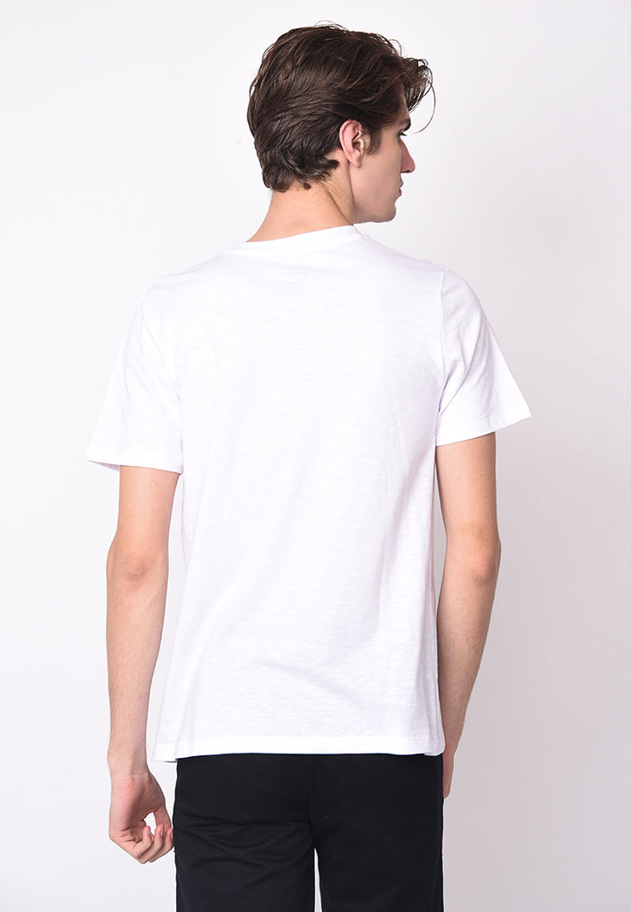 GUARDIAN V NECK SLUB IN WHITE