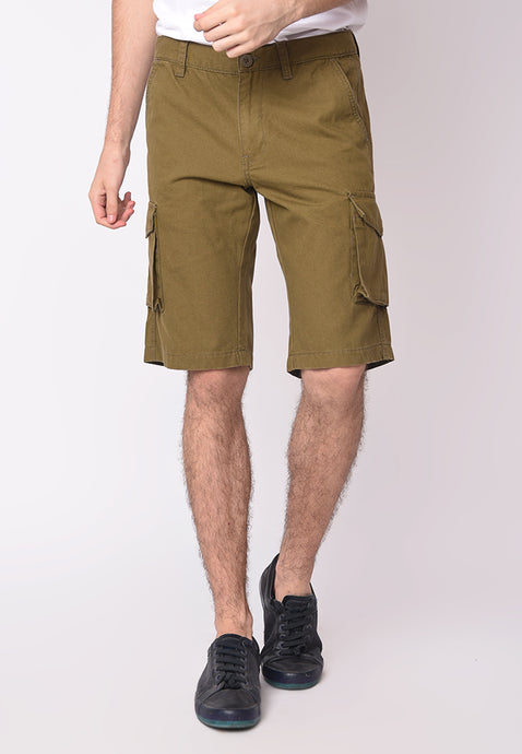 SKELLY CARGO SHORT T3 IN OLIVE