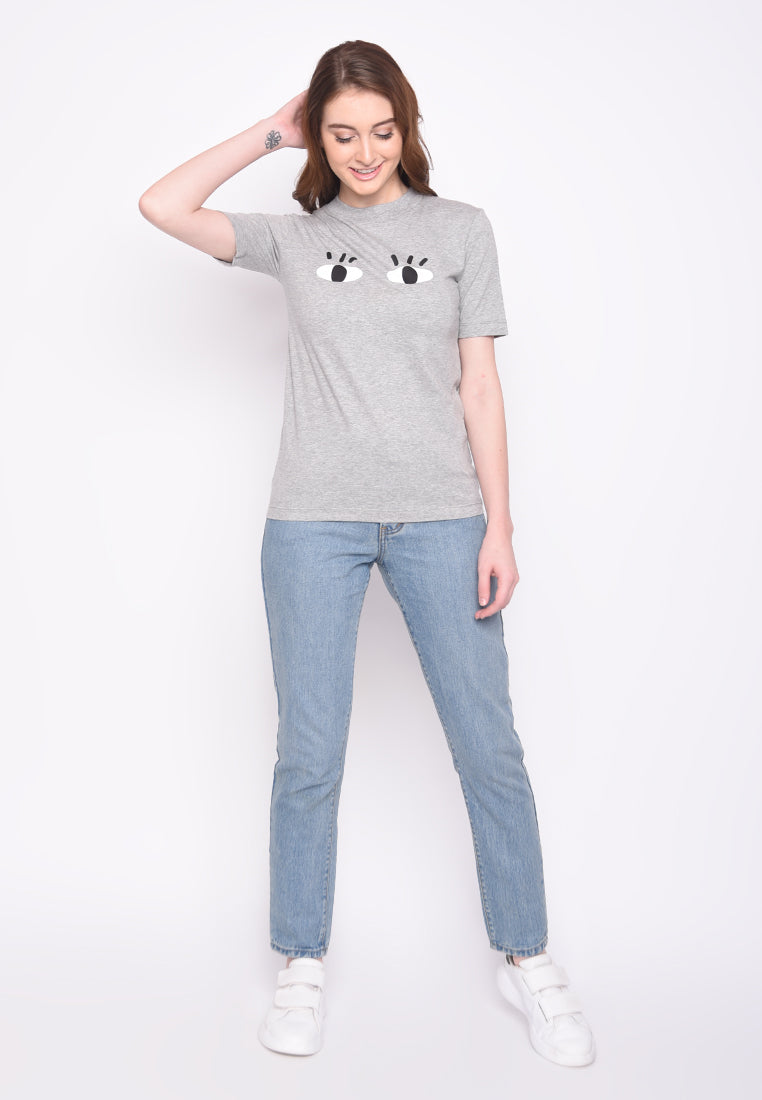 Malmo Eyes Graphic T-Shrit in Heather
