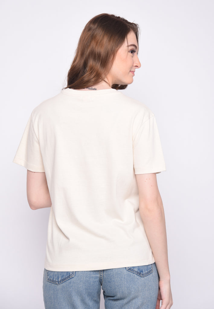 Liberte Stripes T1 Graphic T-Shirt in White
