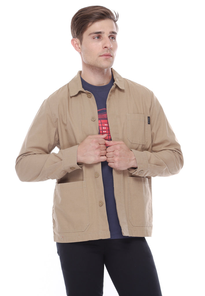 Herb Canvas Jacket In Beige