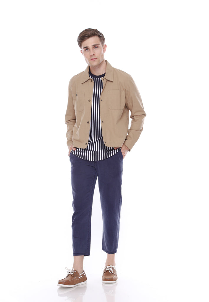 Military Canvas Jacket Beige