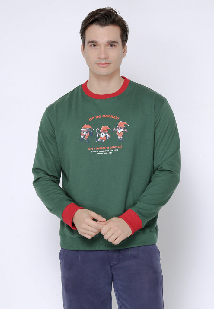 Christmas Santa Hoho Pullover In Green