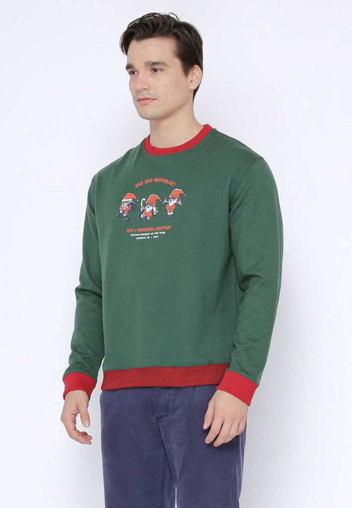 Christmas Santa Hoho Pullover In Green XRed