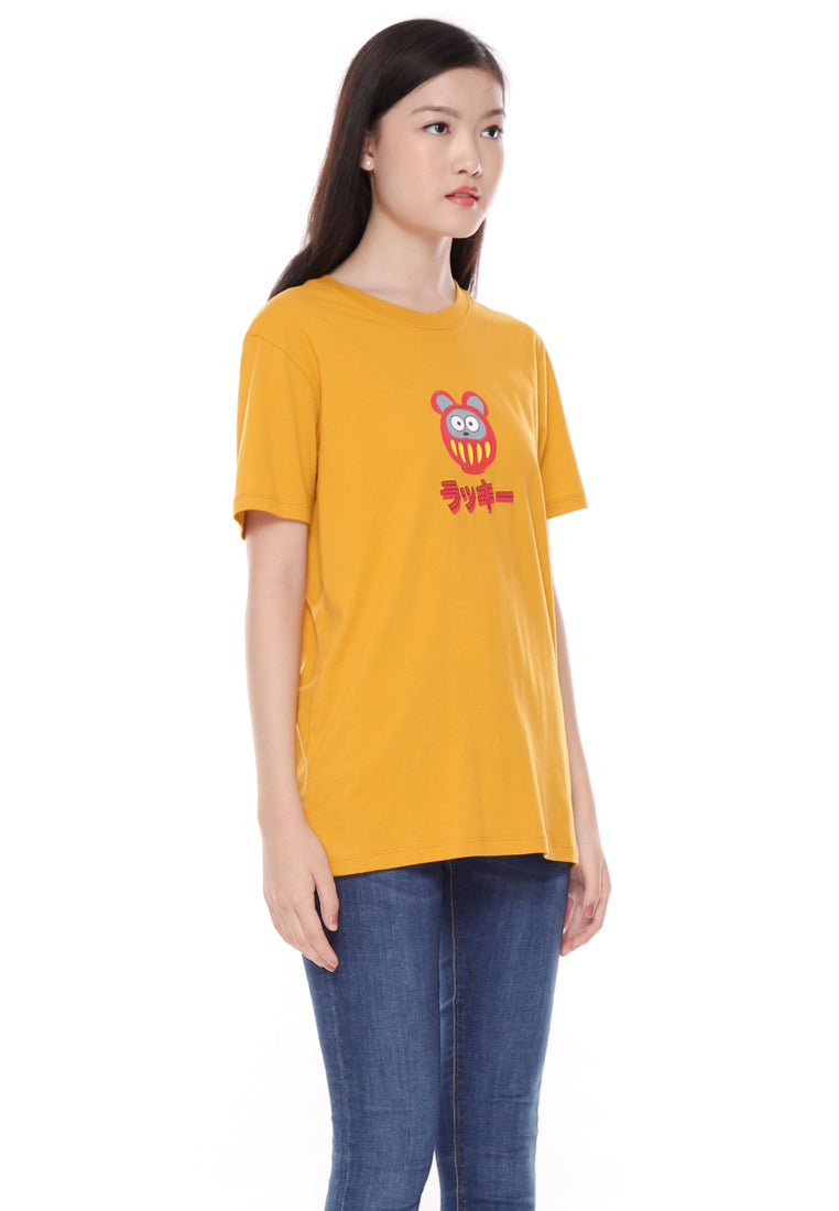 Daruma Rat Graphic T-Shirt CNY Special Ladies