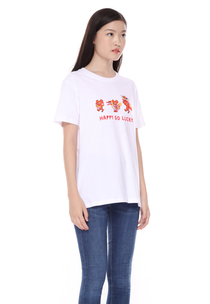 Happy Go Lucky Graphic T-Shirt CNY Special Ladies