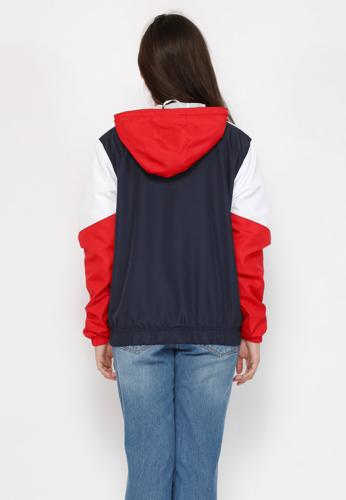 Trail Anorak Half Zip Nylon Jacket In Navy Special Ladies