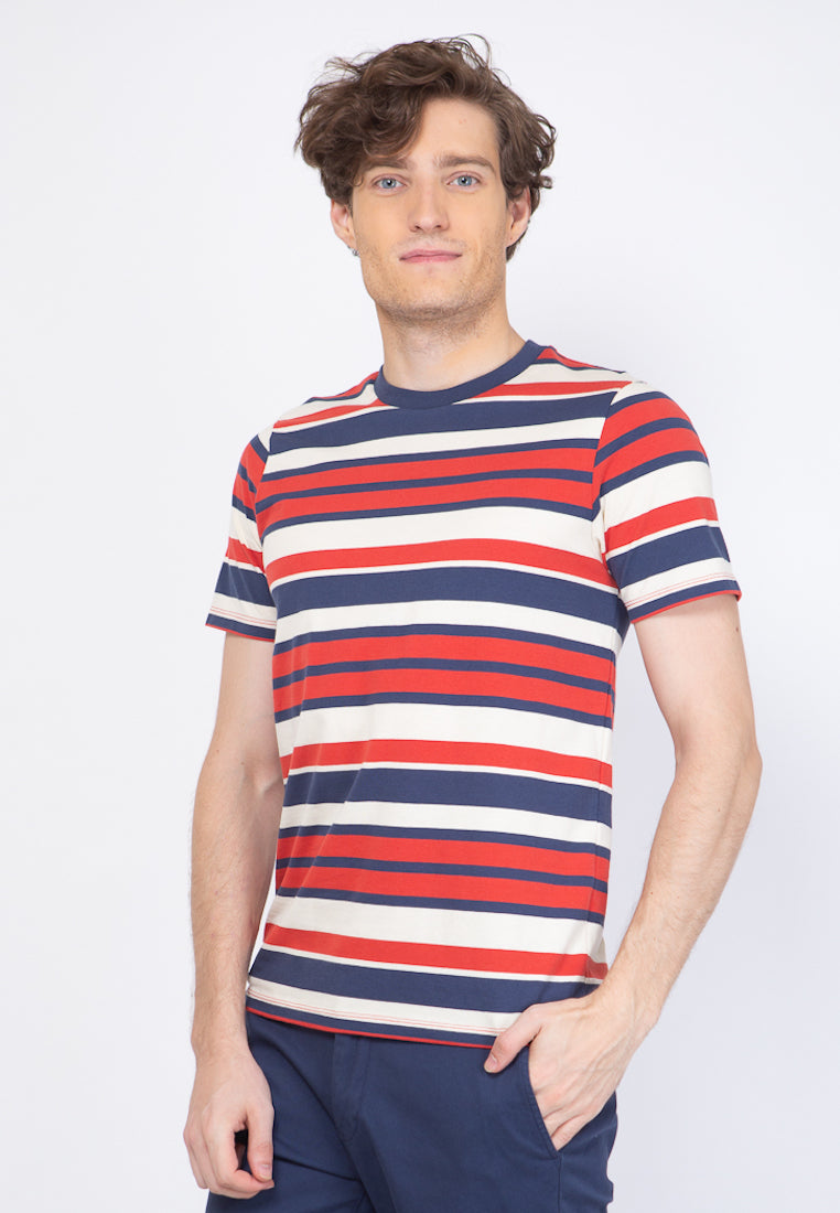 TM Stripe T-Shirt in Red