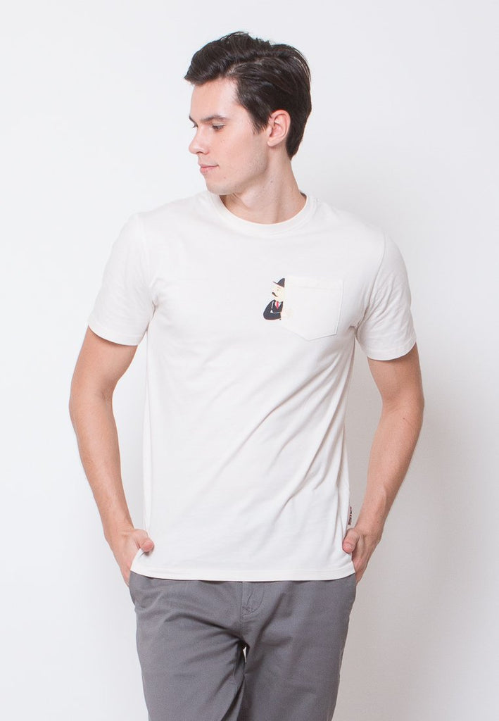 Thompson Pocket Printed T-shirt - Skelly Indonesia - The Original Graphic Tees, Comfortable Basic - www.skellyshop.co.uk