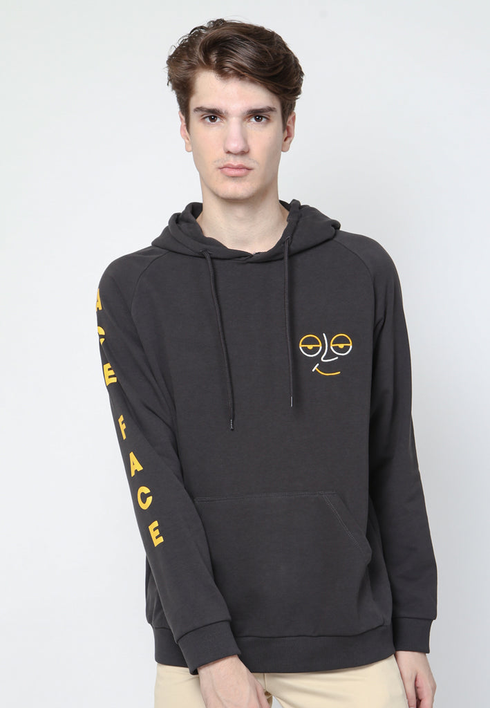 Ace Face Sweatshirts Hooded in Black