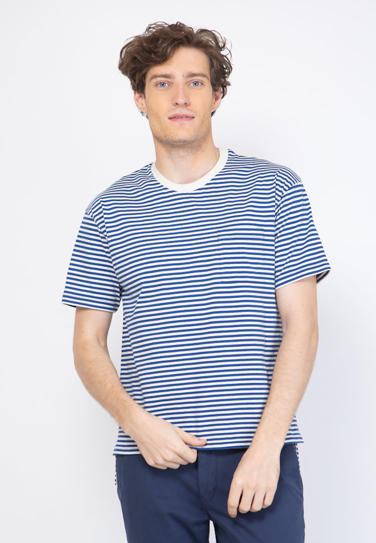 Brighton Stripe T-Shirt in Blue