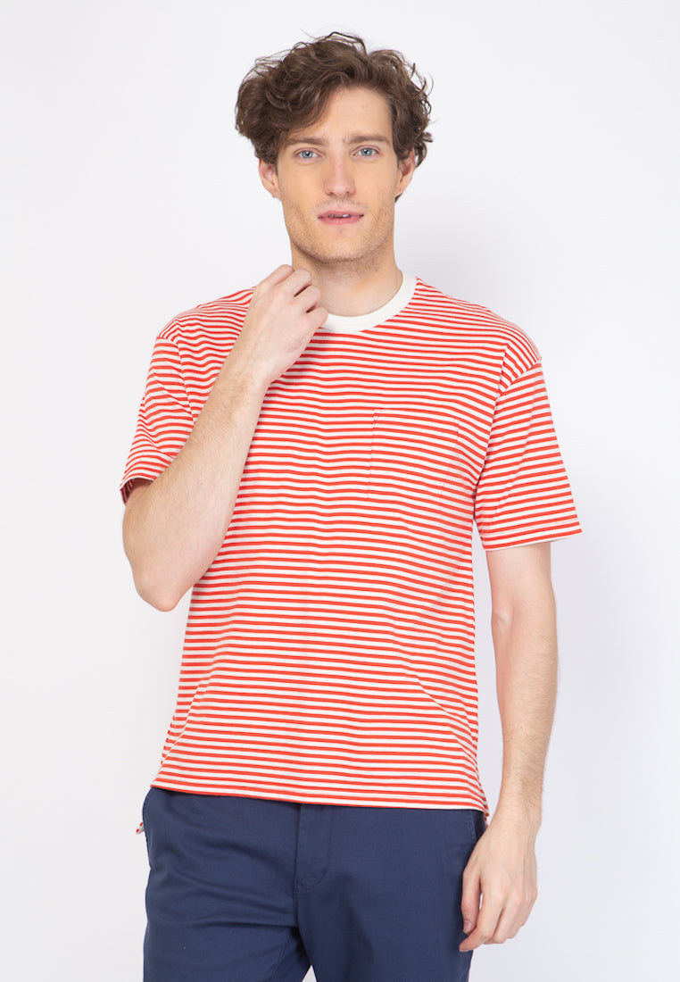 Brighton Stripe T-Shirt in Red