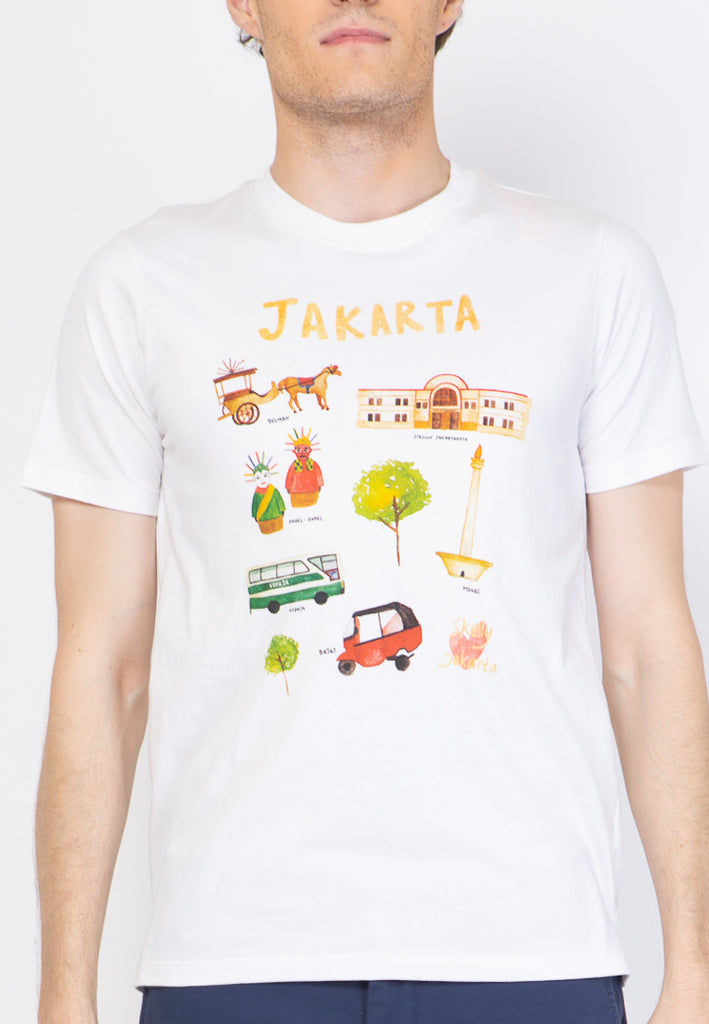 Jakarta Graphic T-shirts in White