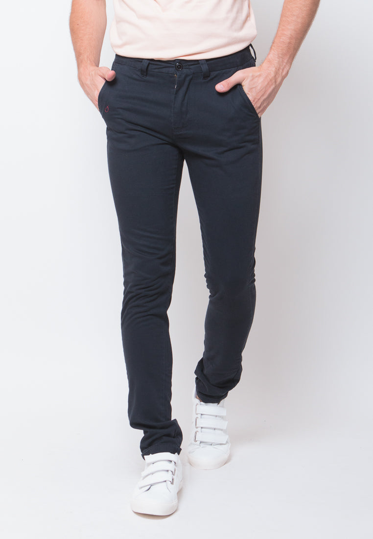 Jim Truman Long Pants in Navy - Skelly Indonesia - The Original Graphic Tees, Comfortable Basic - www.skellyshop.co.uk