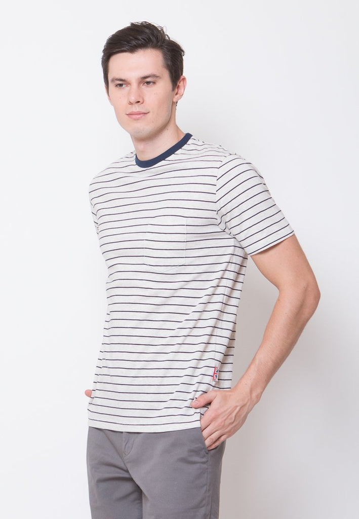 Chester Stripe T-shirt Navy - Skelly Indonesia - The Original Graphic Tees, Comfortable Basic - www.skellyshop.co.uk