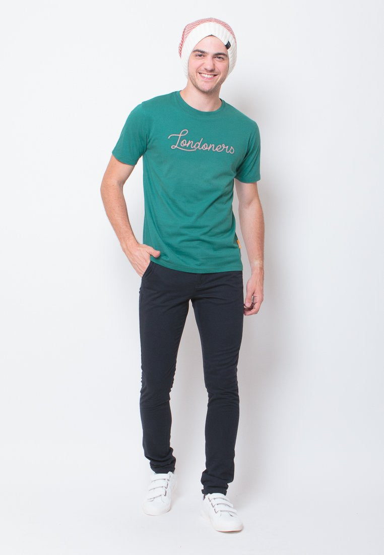 Londoners Embroidered T-shirt in Green - Skelly Indonesia - The Original Graphic Tees, Comfortable Basic - www.skellyshop.co.uk