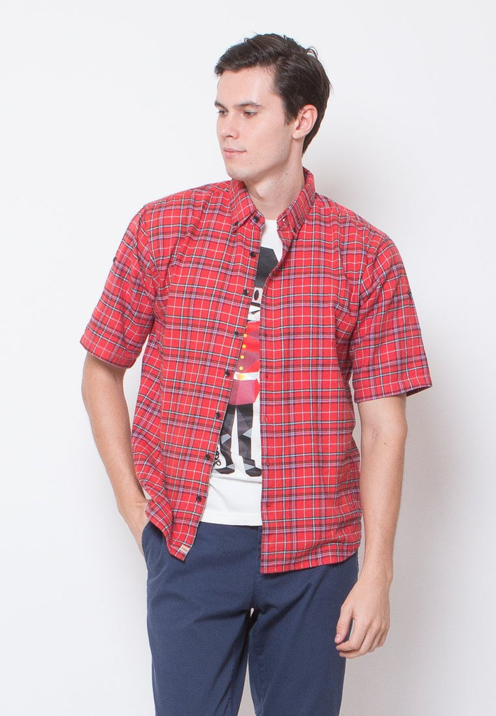 Crosby Relaxed Short Sleeve Flannel Shirts - Skelly Indonesia - The Original Graphic Tees, Comfortable Basic - www.skellyshop.co.uk