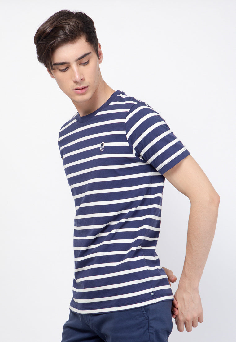 Evenlike Stripe T-Shirt in Navy