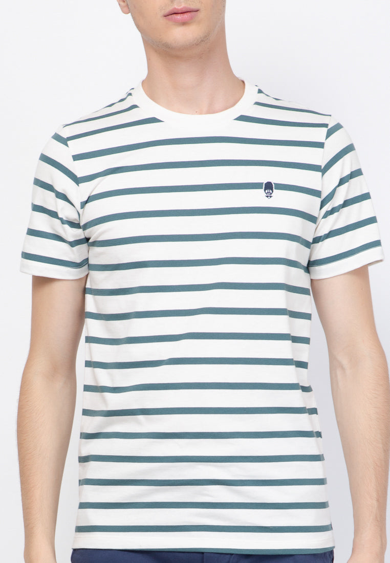 Evenlike Stripe T-Shirt in Off White