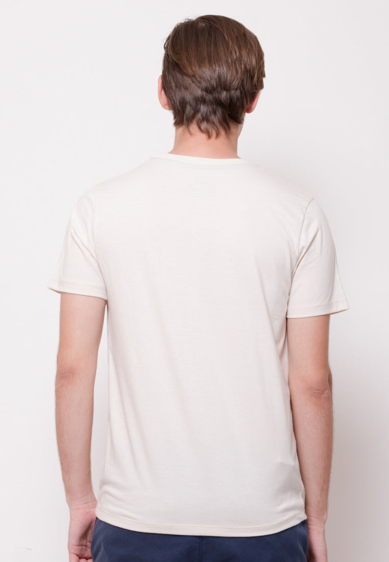 Britwave in Ivory Graphic T-Shirt - Skelly Indonesia - The Original Graphic Tees, Comfortable Basic - www.skellyshop.co.uk