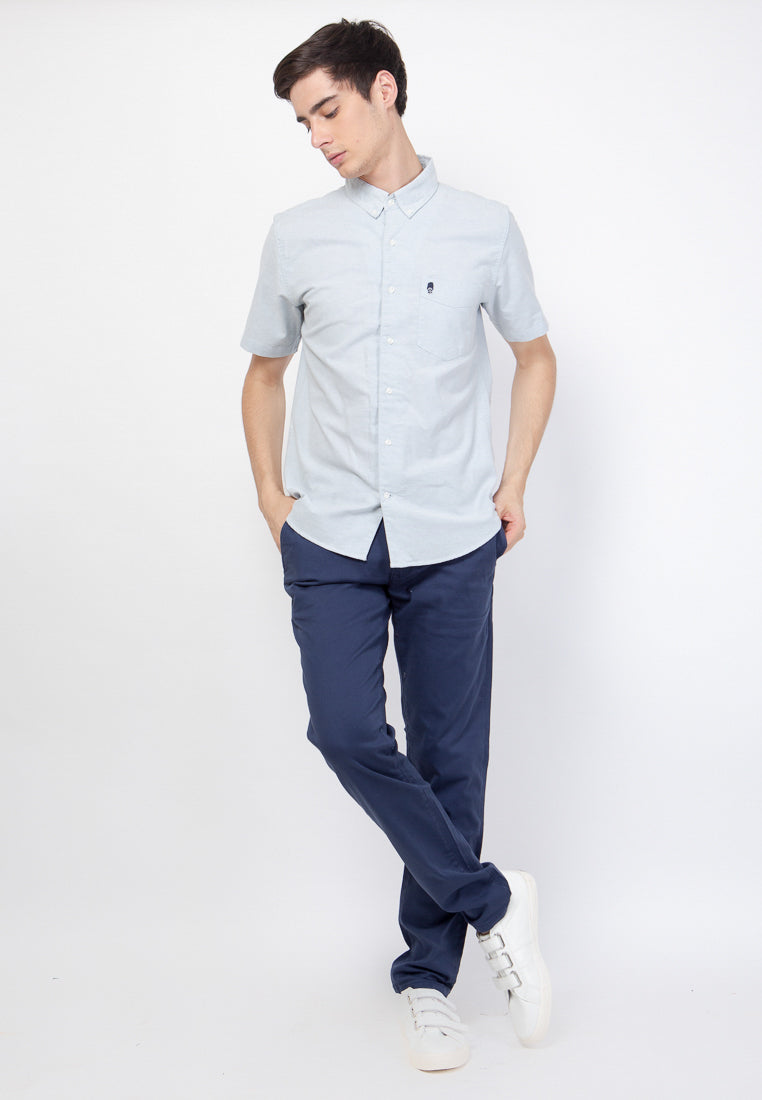 Guardian Hiro Oxford SS Shirt in Dusty Blue