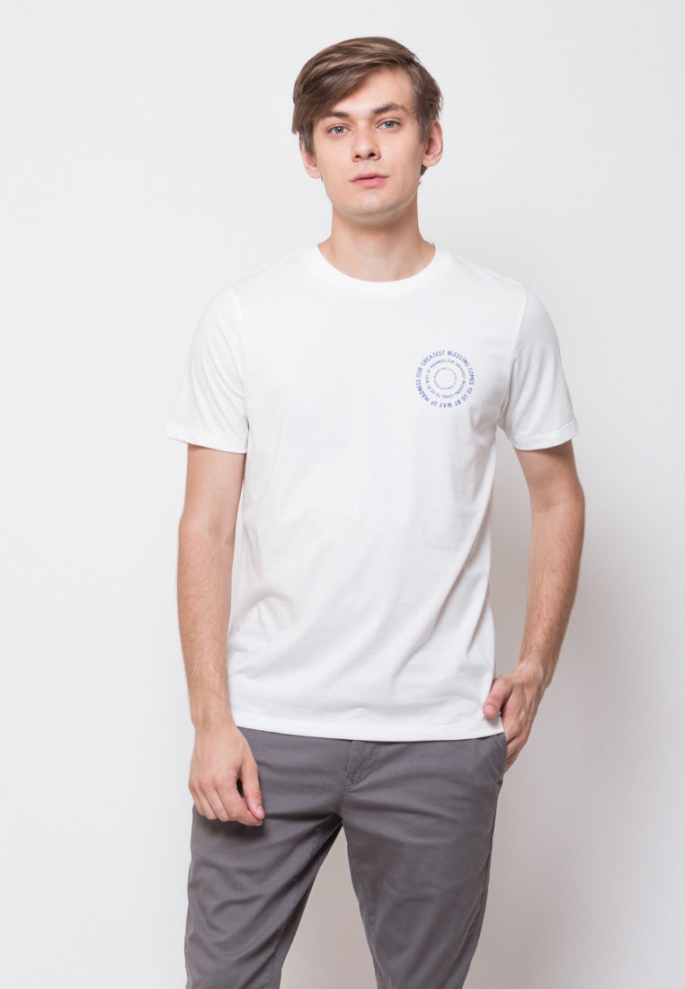Mod Scan Graphic T-shirt in White - Skelly Indonesia - The Original Graphic Tees, Comfortable Basic - www.skellyshop.co.uk