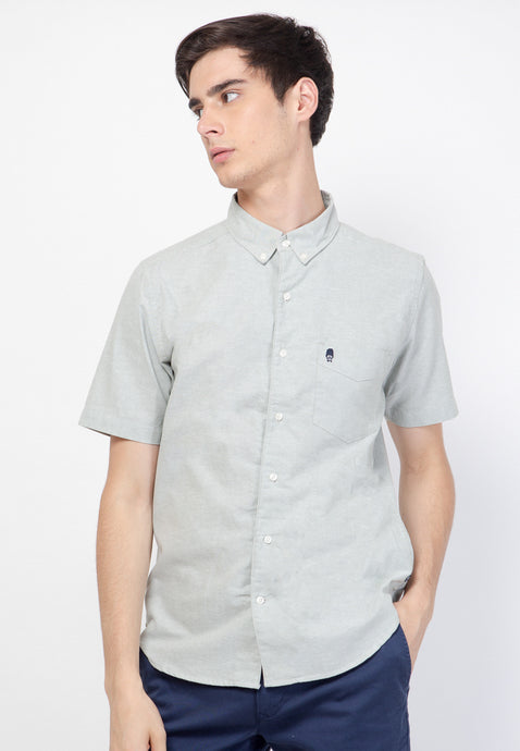 Guardian Hiro Oxford SS Shirt in Pistac