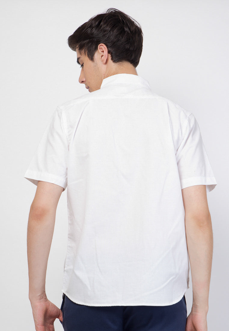 Guardian Hiro Oxford SS Shirt in White