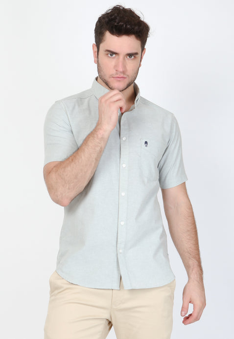 Guardian Hiro Oxford Classic SS Shirt in Pistachio