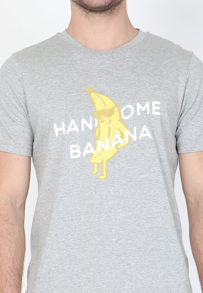 Handsome Banana Graphic T-shirt in Misty Heather