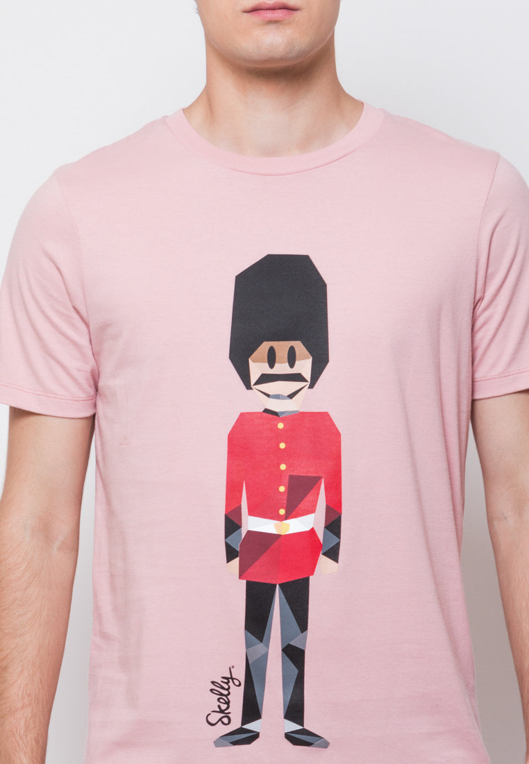 Royal Guard MMIX Pink Shell Graphic T-shirt - Skelly Indonesia - The Original Graphic Tees, Comfortable Basic - www.skellyshop.co.uk