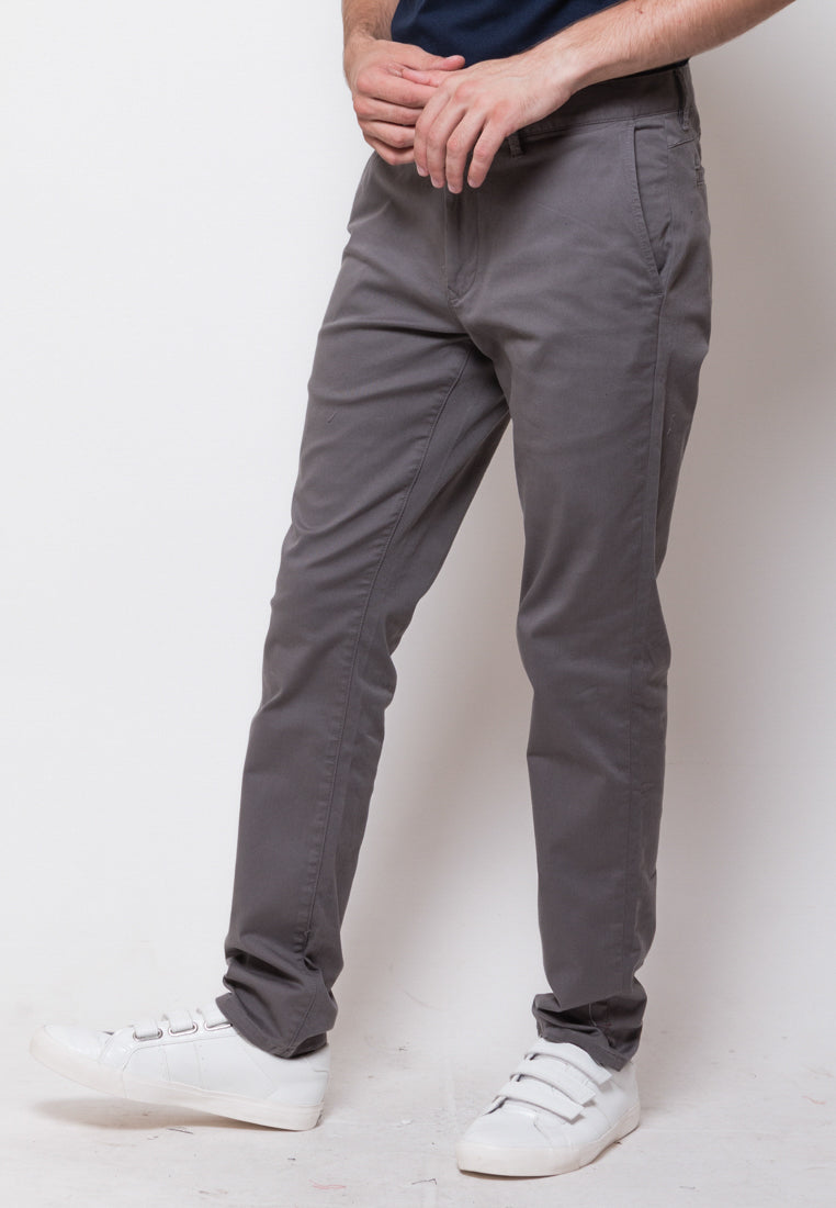 Jim Truman Long Pants in Dark Grey - Skelly Indonesia - The Original Graphic Tees, Comfortable Basic - www.skellyshop.co.uk