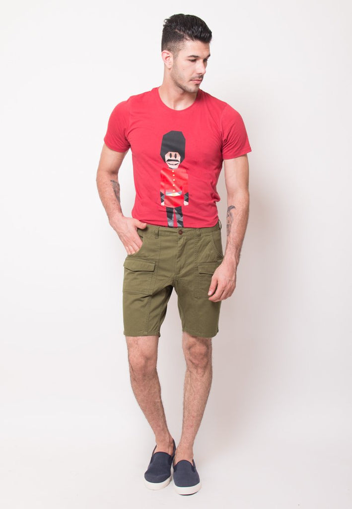 Alvin Shorts in Olive - Skelly Indonesia - The Original Graphic Tees, Comfortable Basic - www.skellyshop.co.uk