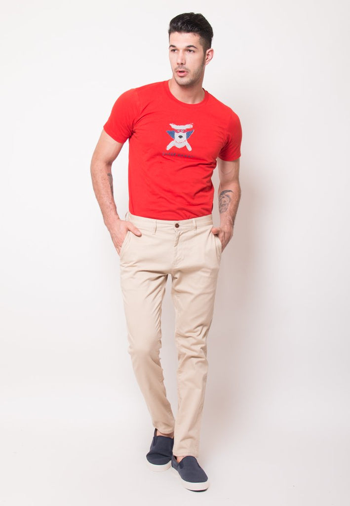 Jim Truman Long Pants in Beige - Skelly Indonesia - The Original Graphic Tees, Comfortable Basic - www.skellyshop.co.uk