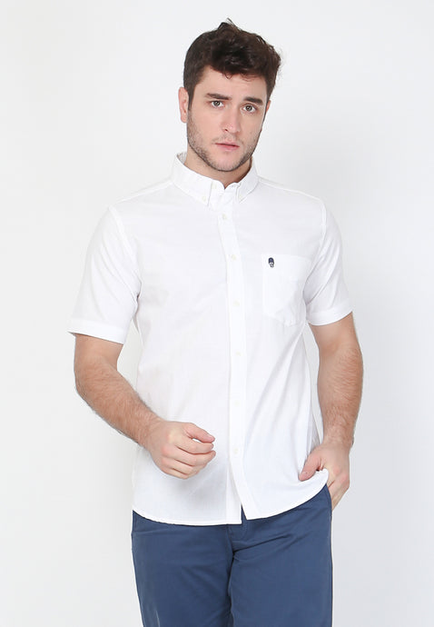 Guardian Hiro Oxford Classic SS Shirt in White