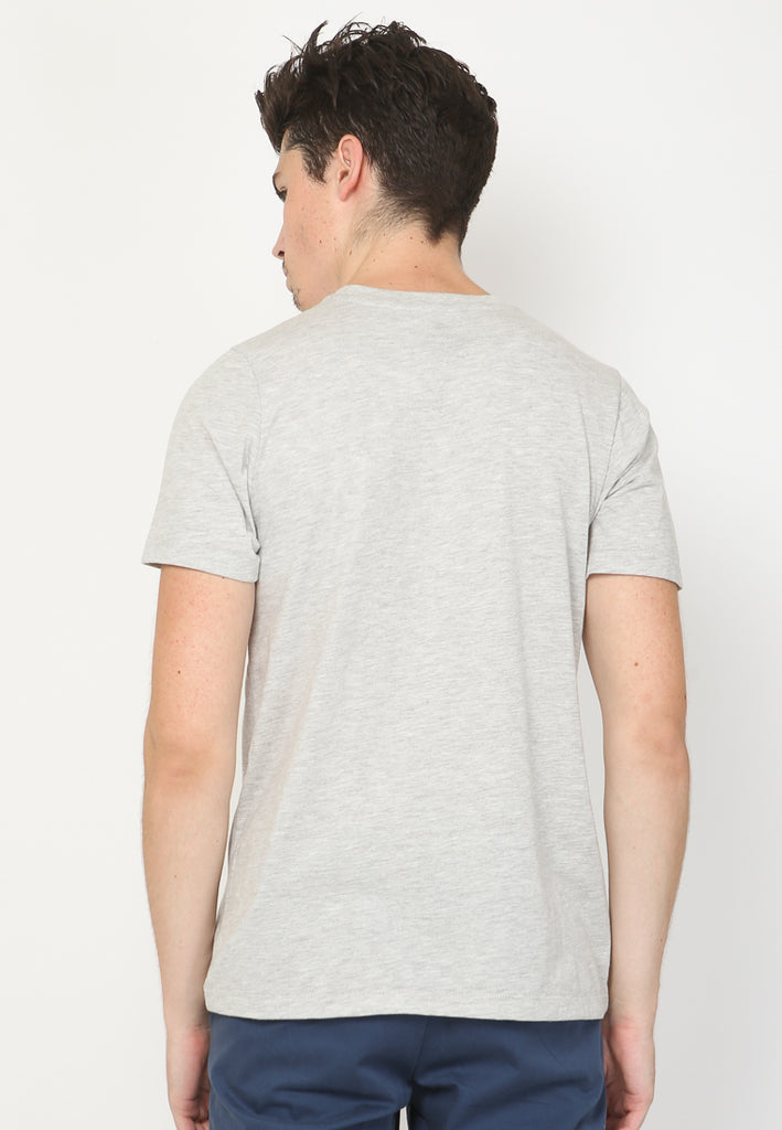Scoot Slow Tee Graphic T-shirt in Grey Slub