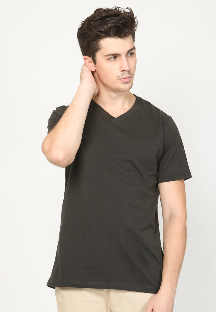Guardian VNeck Slub In Black
