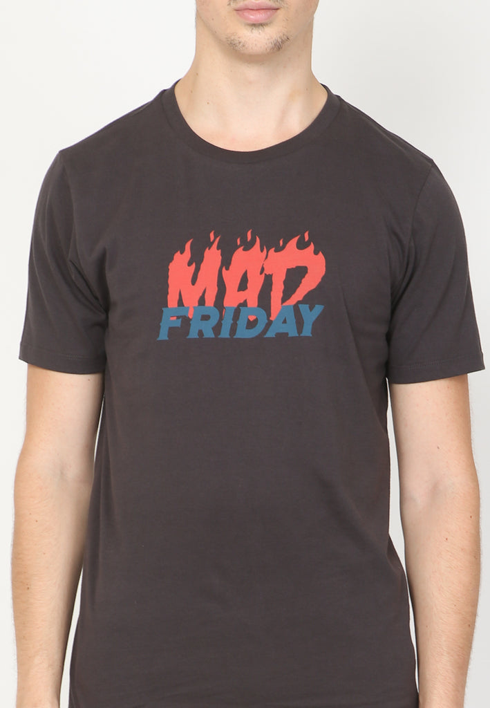 Mad Friday Graphic T-Shirt in Jet Black