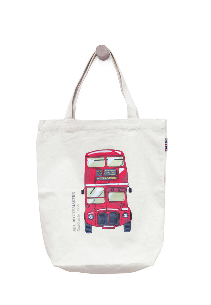 Bus Stamp Canvas Tote Bag - Skelly Indonesia - The Original Graphic Tees, Comfortable Basic - www.skellyshop.co.uk