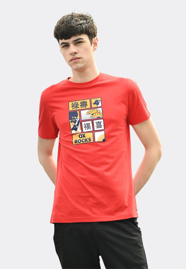 Ox Rocks Red Graphic T-Shirt CNY Special